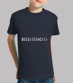 Camiseta QuedateEnCasa Niño, manga corta, azul marino