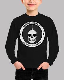 Camiseta Ranger Army manga corta, negra