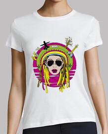 Camiseta Rastafari Peace Love Music