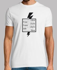 Camiseta Rayo Free Energy con Nikola Tesla