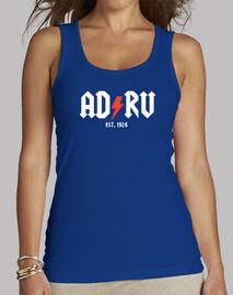 Camiseta Rayo Vallecano ADRV fútbol Mujer, sin mangas, azul royal