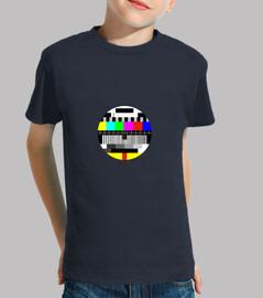 camiseta redonda de tarjeta de prueba para niño