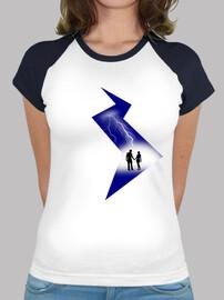 camiseta relámpago amor mujer amor eclair amor