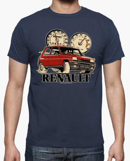Camiseta RENAULT 5 ALPINE TURBO ROJO
