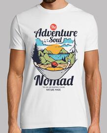 Camiseta Retro 80s Aventuras 90s Camping Campamento Montañas