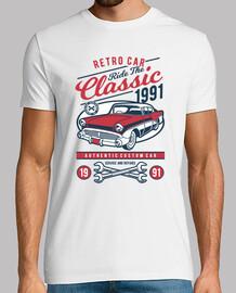 Camiseta Retro American Classic Car 1991