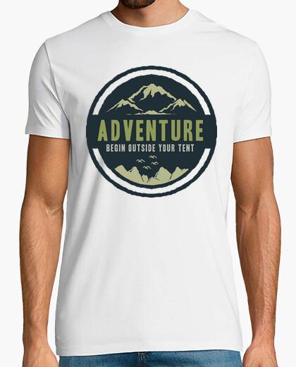 Camiseta Retro Aventuras Montaña Vintage Camping Campamento