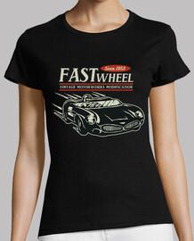 Camiseta Retro Carrera de Coches Garaje
