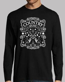 Camiseta Retro Country Music Guitarras Rockabilly Nashville Memphis Tennessee Rock N Roll