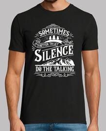 Camiseta Retro Lets The Silence Do The Talking Vintage