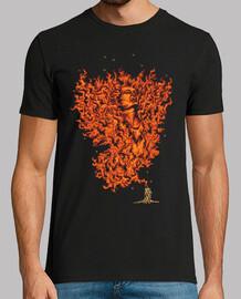 Camiseta Retro Llamas