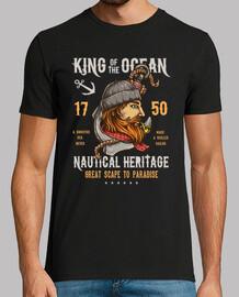 Camiseta Retro Marineros Vintage King Of The Ocean