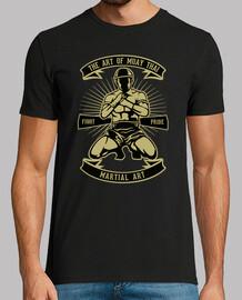 Camiseta Retro Muay Thai Artes Marciales Boxeo Tailandés