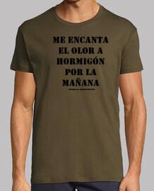 Camiseta retro para arquitectos - Hormigón black - Cosas de Arquitectos
