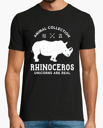 Camiseta Retro Silueta Rinoceronte 1983