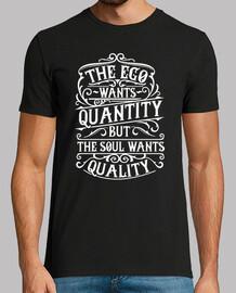 Camiseta Retro The Ego Wants Quantity Vintage