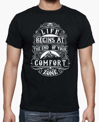 Camiseta Retro The End of Your Comfort Zone Vintage