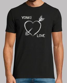 Camiseta retro Yonki Love  Negra