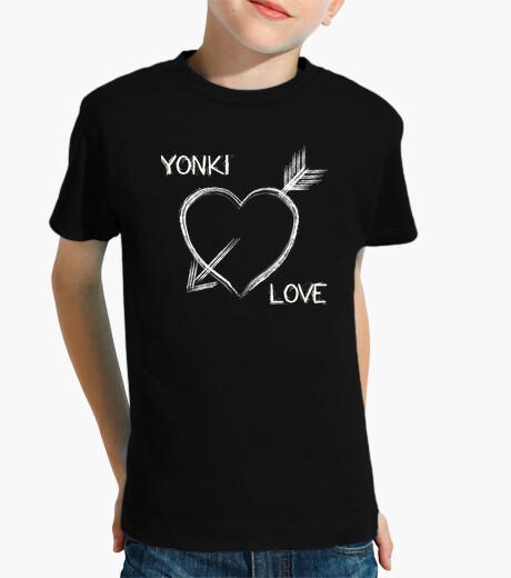 Ropa infantil Camiseta retro Yonki Love Niñ@ negra