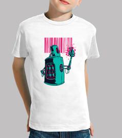Camiseta robot graffiti