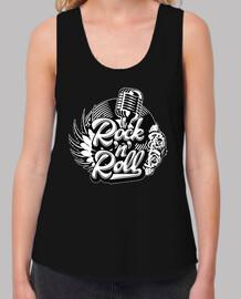 Camiseta Rock and Roll Rockers Rockabilly Music Vintage Micrófono Doo Wop