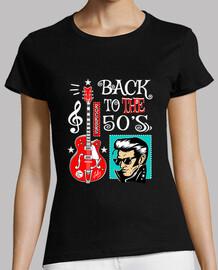 Camiseta Rock N Roll Party Rocker Guitarra Rockabilly Music Vintage 50s