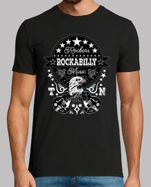 Camiseta Rock Rockabilly Music Tennessee Guitarras Rock N Roll Rockers Águila