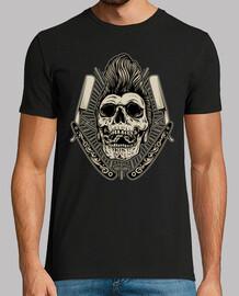 Camiseta Rock Rockabilly Skull Vintage Rock N Roll Rockers Bikers Calaveras