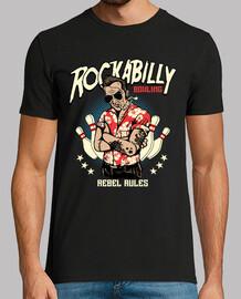Camiseta Rockabilly Bolos Rebel Rules