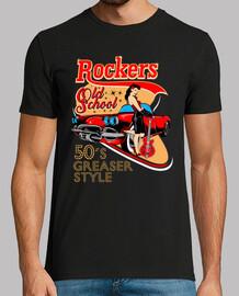 Camiseta Rockabilly Music 50s Pin Up Rockers Retro Vintage Rock N Roll Fifties