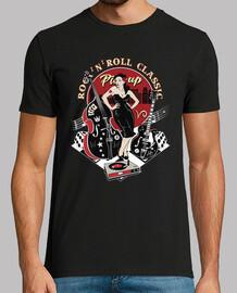 Camiseta Rockabilly Music Pin-Up Vintage 50s USA Rock