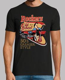 Camiseta Rockabilly Music Retro 1950s Pin Up Rockers Rock N Roll