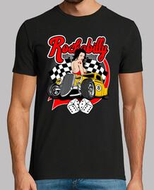 Camiseta Rockabilly Music Retro Pinup Hot Rod Rock N Roll Rockers