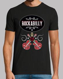 Camiseta Rockabilly Music Retro Rock Skull