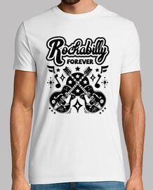 Camiseta Rockabilly Music Rocker Biker Retro USA Rock and Roll