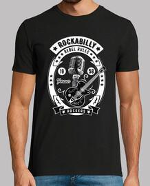 Camiseta Rockabilly Music Rockers Guitarra USA