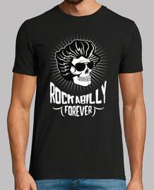 Camiseta Rockabilly Skull Vintage Rockers