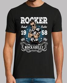 Camiseta Rocker Rockabilly 1958 Retro Rock