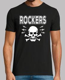 Camiseta Rocker Rockabilly Music Skull Greaser Rock N Roll Bikers