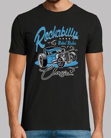 Camiseta Rockera Vintage Hotrod Rockabilly Music Retro Rocker Rock and Roll USA