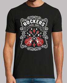 Camiseta Rockers Vintage Rockabilly USA Rock Guitarras