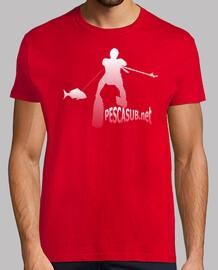 Camiseta roja - Silueta blanca