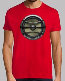 Camiseta Roja Altavoz de diseño exclusivo