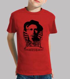 camiseta roja para niños - joe hill