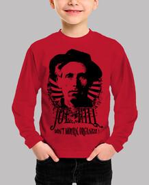 camiseta roja para niños - joe hill english