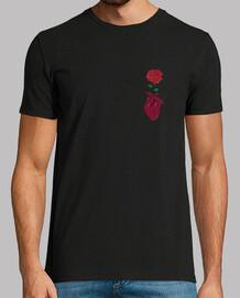 Camiseta Rosa en corazón