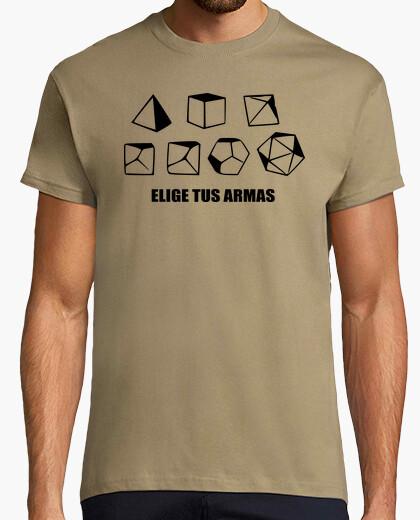Camiseta RPG - elige armas