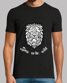 camiseta salvaje libre nacido para ser salvaje