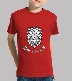 camiseta salvaje nacido para ser niño salvaje