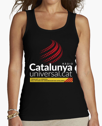 Camiseta Samarreta de tirants per a elles - Ràdio Catalunya Universal blanc